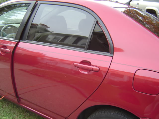 Replace Rear Vent Glass Toyota Corolla Diy